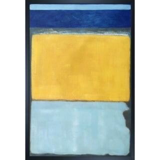 Mark Rothko 'No. 10, 1950' Hand Painted Framed Canvas Art
