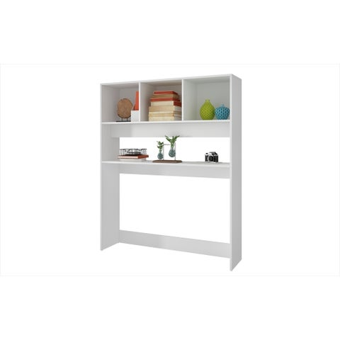 Accentuations by Manhattan Comfort Aosta White 4-shelf Display Desk