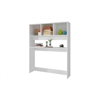 Accentuations by Manhattan Comfort Aosta White 4-shelf Display Desk (2 options available)