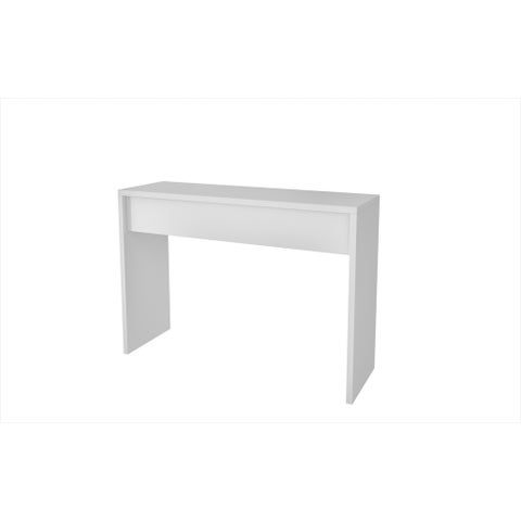 Accentuations by Manhattan Comfort Lazio White Classic Secretary Desk