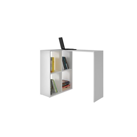 Accentuations by Manhattan Comfort Pescara White MDF and Melamine 4-shelf Cubby Desk