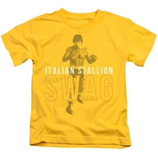 MGM/Rocky/Stallion Swag Short Sleeve Juvenile Graphic T-Shirt in Yellow