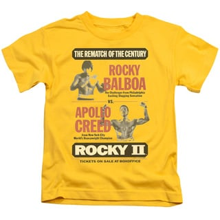 MGM/Rocky Ii/Rematch Short Sleeve Juvenile Graphic T-Shirt in Yellow