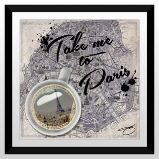"""BY Jodi """"Take Me To Paris"""" Framed Plexiglass Wall Art"""
