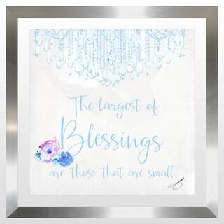 """BY Jodi """"Baby Blessings In Blue"""" Framed Plexiglass Wall Art"""