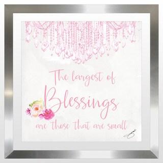 """BY Jodi """"Baby Blessings In Pink"""" Framed Plexiglass Wall Art"""