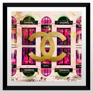 "BY Jodi ""Shop Chanel In Pink"" Framed Plexiglass Wall Art"