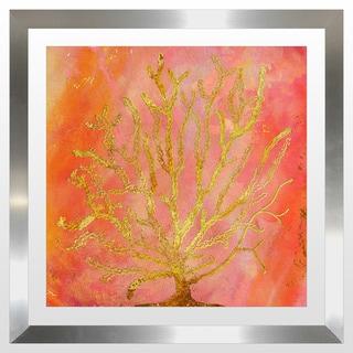 """BY Jodi """"Sea Coral 1"""" Framed Plexiglass Wall Art"""