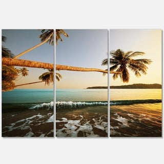 Andaman Sea Large Coconut Palms - Large Seashore Metal Wall At - 36Wx28H