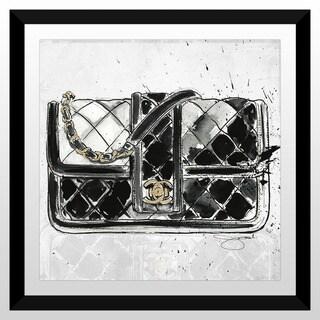 "BY Jodi ""Chanel Bag Black"" Framed Plexiglass Wall Art"
