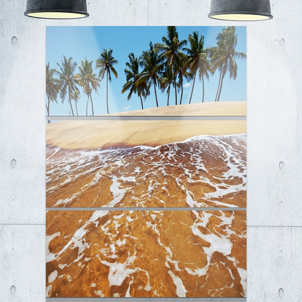 Tropical Beach with Crystal Waters - Large Seashore Metal Wall At - 36Wx28H