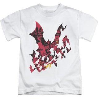 Batman/Broken City Short Sleeve Juvenile Graphic T-Shirt in White