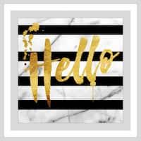 "BY Jodi ""Hello"" Framed Plexiglass Wall Art"