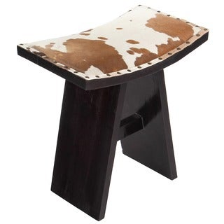 Asian Spotted Cowhide Vanity Stool (Indonesia)