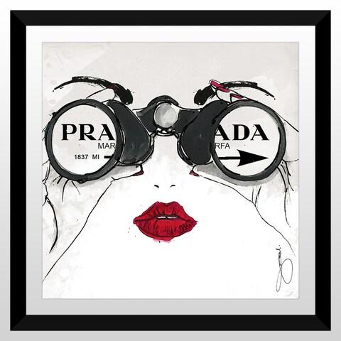 """BY Jodi """"I See Prada"""" Framed Plexiglass Wall Art"""