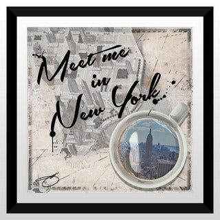 "BY Jodi ""Meet Me In New York"" Framed Plexiglass Wall Art"