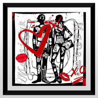 "BY Jodi ""Madame & Monsieur "" Framed Plexiglass Wall Art"
