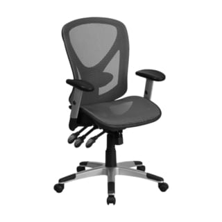 Offex Executive Grey Mesh Mid-back Swivel Office Chair with Triple Paddle Multi-function Control Mechanism
