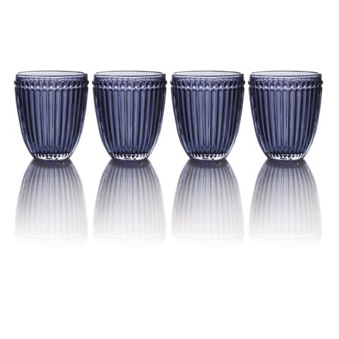 Mikasa Italian Countryside Blue Double Old-fashioned Glasses (Set of 4)