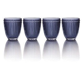 Mikasa Italian Countryside Blue Double Old-fashioned Glasses (Set of 4)