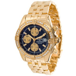 Pre-Owned Breitling Chronomat Evolution Chronograph K13356 Mens Watch in 18K Yellow Gold