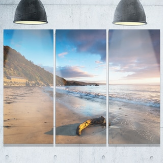 Looe Cornwall Beach at Sunrise - Modern Beach Metal Wall At - 36Wx28H