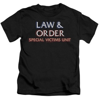 Law & Order SVU/Logo Short Sleeve Juvenile Graphic T-Shirt in Black