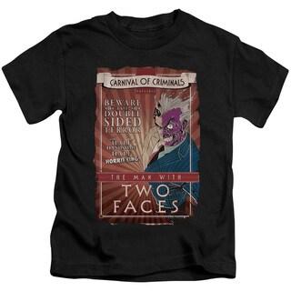 Batman/Two Faces Short Sleeve Juvenile Graphic T-Shirt in Black