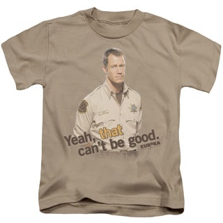 Eureka/That Can't Be Good Short Sleeve Juvenile Graphic T-Shirt in Sand