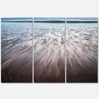 Ocean Beach Water Motion - Seashore Metal Wall At - 36Wx28H