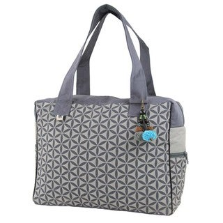 Handmade Flower of Life Retreat Bag in Grey - Global Groove (Thailand)