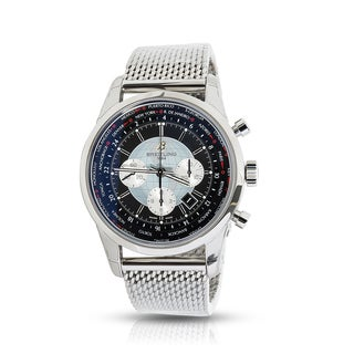 Unworn & Pre-owned Breitling Transocean Unitime Chronograph AB0510U4/BB62 Mens Watch in Stainless Steel