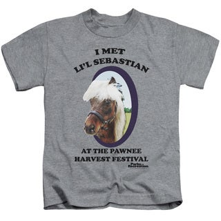 Parks & Rec/Li'L Sebastian Short Sleeve Juvenile Graphic T-Shirt in Heather