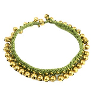 Rasa Bells Anklet in Olive - Global Groove (Thailand)