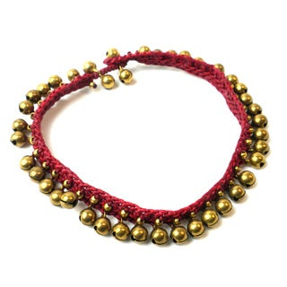 Rasa Bells Anklet in Wine - Global Groove (Thailand)