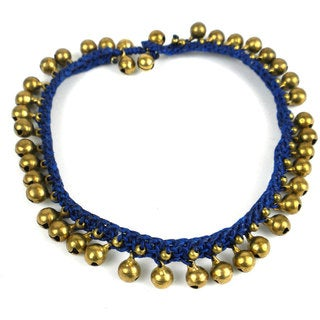 Rasa Bells Anklet in Navy - Global Groove (Thailand)
