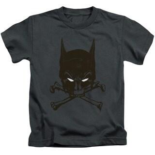 Batman/Bat and Bones Short Sleeve Juvenile Graphic T-Shirt in Charcoal