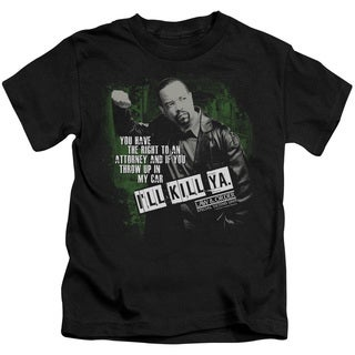 Law&Order:SVU/I'Ll Kill Ya Short Sleeve Juvenile Graphic T-Shirt in Black