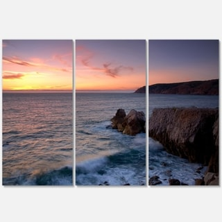 Winch Natural Park Sintra Cascais - Contemporary Seascape Metal Wall At - 36Wx28H