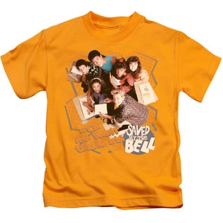Saved By The Bell/It's All Right Short Sleeve Juvenile Graphic T-Shirt in Gold