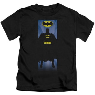 Batman/Batman Block Short Sleeve Juvenile Graphic T-Shirt in Black