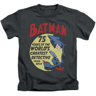 Batman/Detective 75 Short Sleeve Juvenile Graphic T-Shirt in Charcoal
