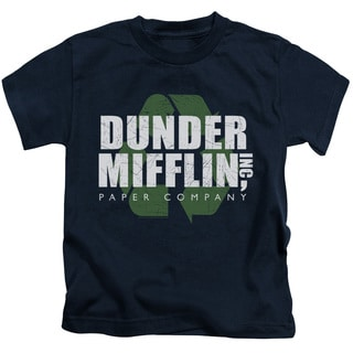 The Office/Recycle Mifflin Short Sleeve Juvenile Graphic T-Shirt in Navy