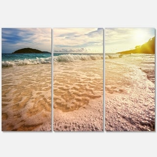 Vintage Style Beach at Similan Park - Contemporary Seascape Metal Wall At - 36Wx28H