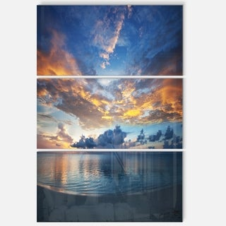 Exotic Colorful Maldives Seashore - Extra Large Seascape Metal Wall At - 36Wx28H