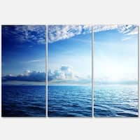 Blue Caribbean Sea and Perfect Blue Sky - Extra Large Seascape Metal Wall At - 36Wx28H