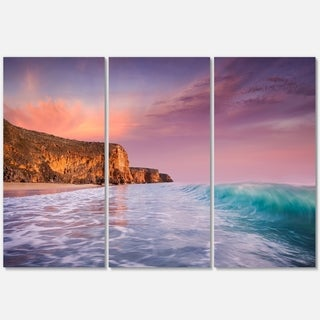 Beautiful Paradise Sunset - Extra Large Seascape Metal Wall At - 36Wx28H