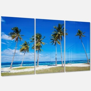 Bright and Clear Tropical Beach - Extra Large Seascape Metal Wall At - 36Wx28H