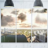 Downtown Orlando Sunset Aerial - Extra Large Seascape Metal Wall At - 36Wx28H