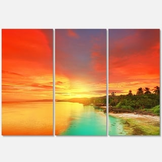 Beautiful Coastline in Philippines - Extra Large Seascape Metal Wall At - 36Wx28H